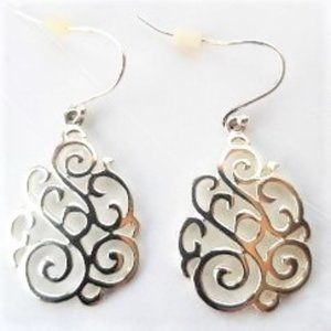 Brand New Sterling Silver scroll earrings